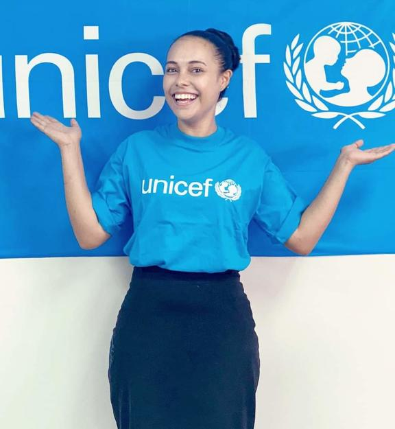 Miss Solomon Islands, Gladys Habu, is a UNICEF ambassador for maternal and child health.