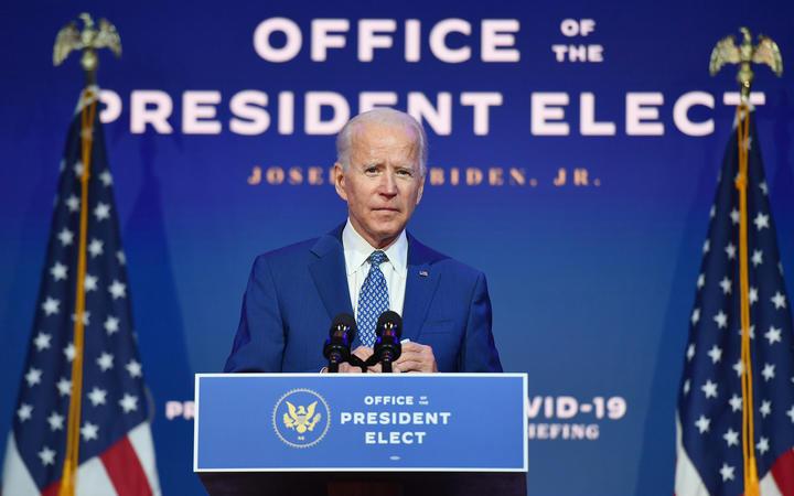 US President-elect Joe Biden delivers remarks at The Queen in Wilmington, Delaware, on November 9, 2020.