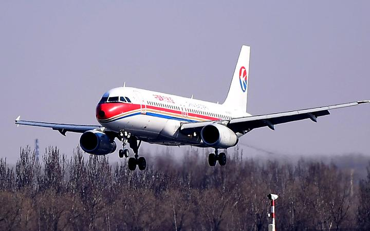 --FILE--A jet plane of China Eastern Airlines takes off from the Shenyang Taoxian International Airport in Shenyang city, northeast China's Liaoning province, 3 April 2019.
