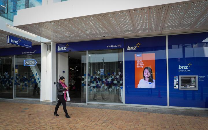 Exteriors of BNZ office in Christchurch