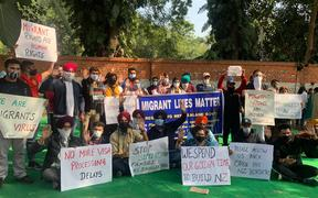 A protest in Delhi, India against New Zealand's immigration was attended by about 150 people.