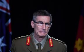 Chief of the Australian Defence Force (ADF) General Angus Campbell delivers the findings from the Inspector-General of the Australian Defence Force Afghanistan Inquiry, in Canberra on 19 November 2020.
