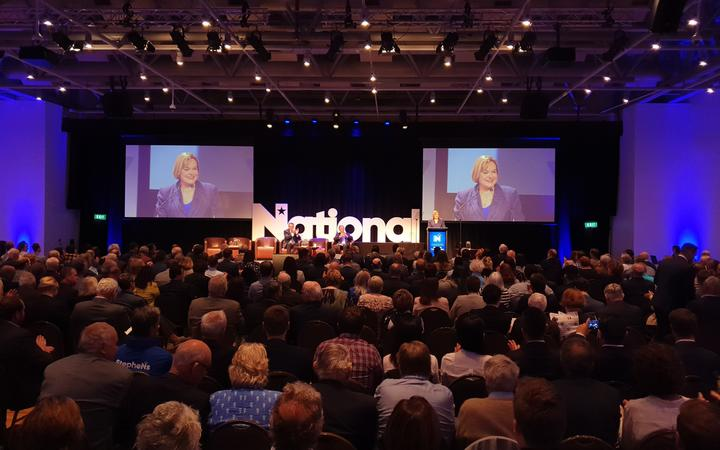 More than 550 people have turned out for the National Party's AGM at Te Papa in Wellington.