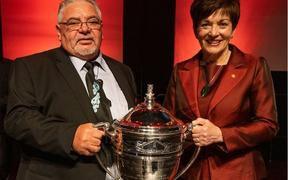 Norman Carter with Governor General, Rt Hon. Dame Patsy Reddy