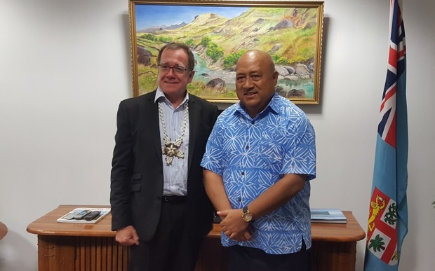 New Zealand and Fiji foreign ministers,