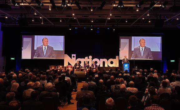 Sir John Key speaks at the national Party AGM.