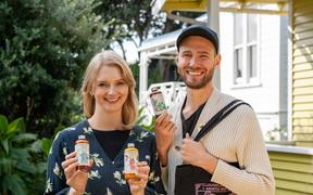 Lydia Harfield and Mat Watkins of Apostle Hot Sauce.