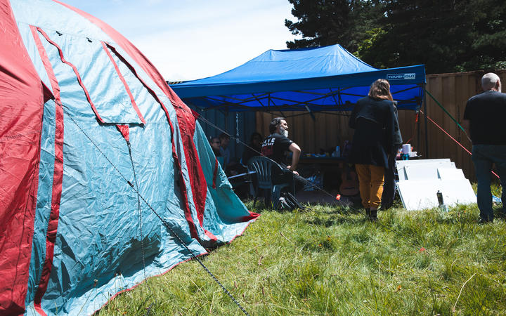 Mau Whenua have set up camp at Shelly Bay in opposition to a planned seaside development.