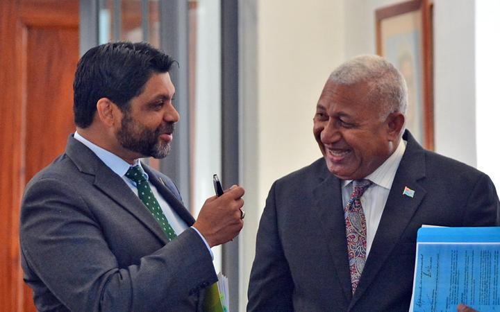 Attorney-General Aiyaz Sayed-Khaiyum and Prime Minister Frank Bainimarama.