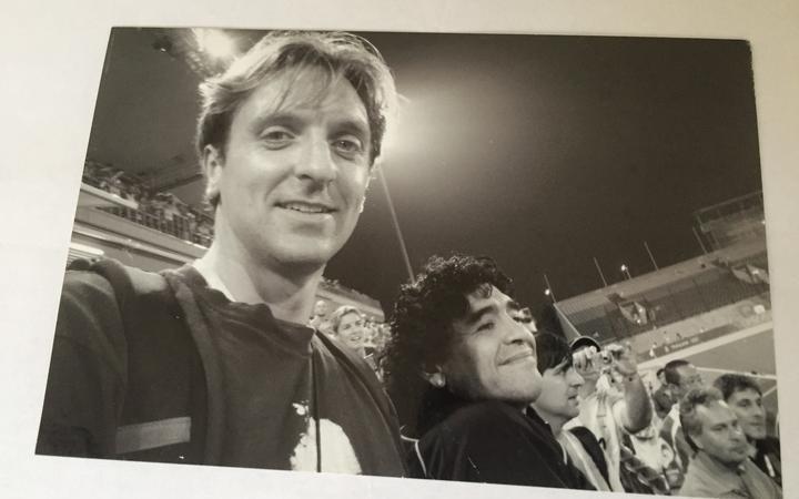 Michael Burgess met Maradona at the 2008 Olympic Games in Beijing.