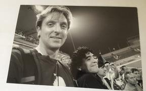 Michael Burgess met Maradona at the 2008 Olympic Games in Beijing.