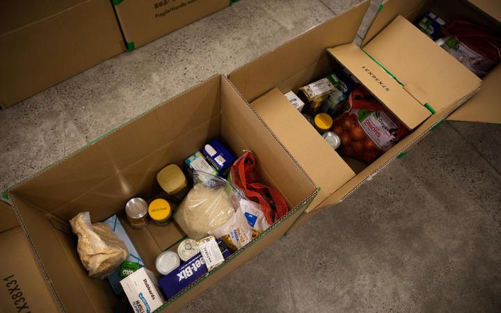 Food parcels at  BBM HQ in Manukau.