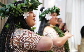 Dancers at the first Turou -'Ava ceremony for new Pasifika MPs at parliament. 30 November 2020.