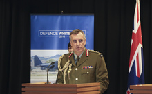 08062016 Photo: RNZ/Rebekah Parsons-King. Defence White Paper Launch at Parliment in Wellington. LTGEN Tim Keating, Chief of Defence Force New Zealand speaks.
