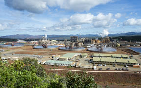 This file photo taken on May 27, 2015 shows Brazilian Vale's nickel processing plant of Goro in southern New Caledonia.