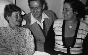 Helen Arnold post-operation with her parents