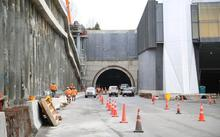 Once complete, twin 2.4km tunnels will have three 80km/h lanes.