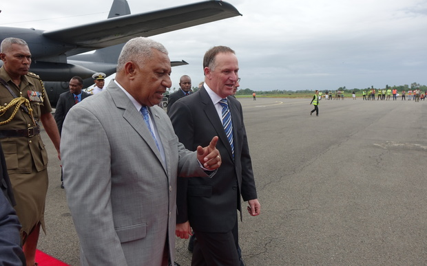 John Key and Frank Bainimarama.