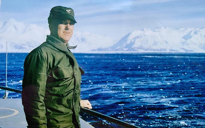 Naval command officer Captain James Douglas in Antarctica