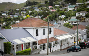 Houses around Lyttelton area in Christchurch
