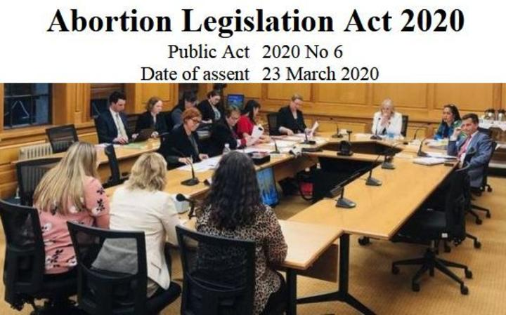 Select committee hearing submissions for what became the Abortion Legislation Act 2020.