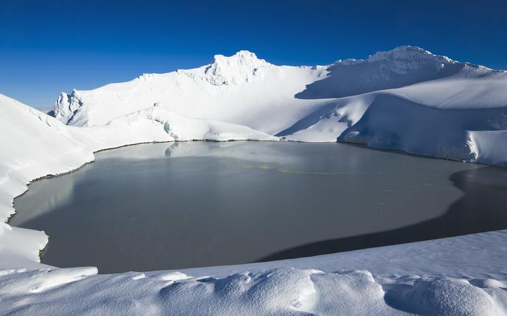 Mt Ruapehu crater lake, Tongariro National Park.