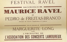 Poster for première of Ravel's Piano Concerto in G