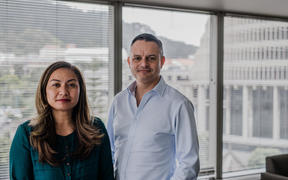 Green Party leaders Marama Davidson and James Shaw.