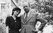 Prokofiev with second wife Mira Mendelssohn