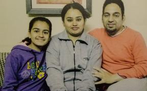Vanita Sehgal, husband Rajeev Seghal and their daughter Mehak.