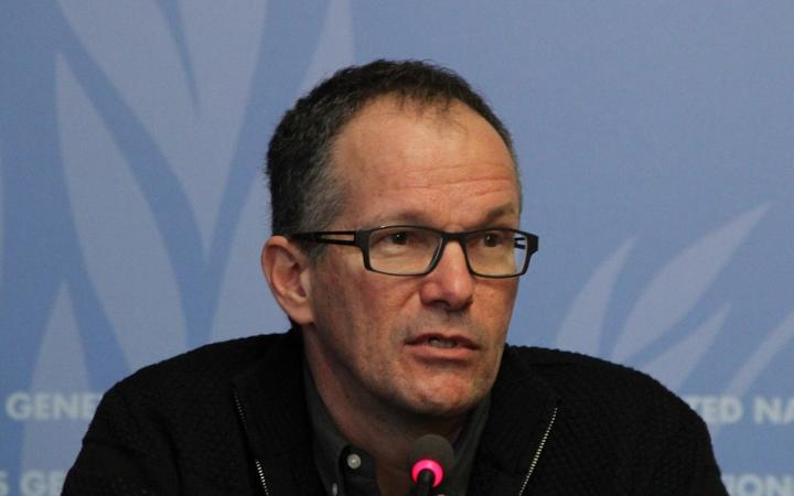 GENEVA, SWITZERLAND - FEBRUARY 13: Peter Ben Embarek, a scientist at the WHO's department of food safety and zoonoses, speaks during a press conference in Geneva, Switzerland on February 13, 2015.