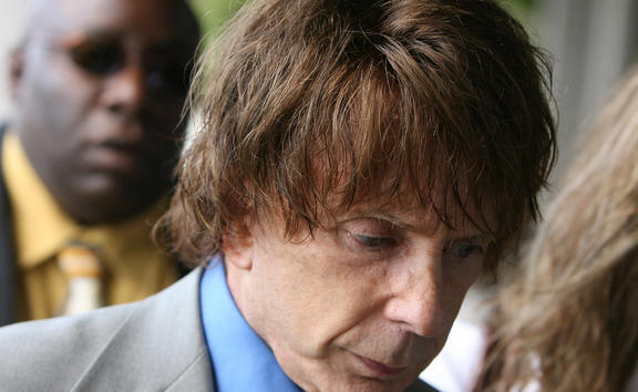 (File photo) Phil Spector arriving for his murder trial at the Los Angeles Superior Court in Los Angeles on September 20, 2007.