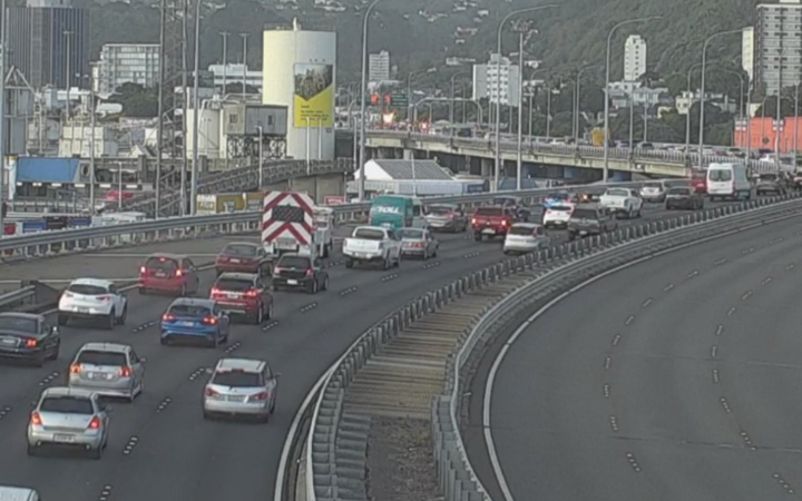 Police were alerted to the crash on the flyover between the Molesworth St on-ramp and the Aotea Quay on-ramp at about 4.20am.