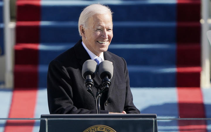 US President Joe Biden delivers his Inauguration speech after being sworn in as the 46th US President.