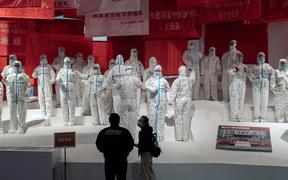 An exhibition has been created about China's fight against the Covid-19 coronavirus at a convention centre in Wuhan previously used as a makeshift hospital for patients.