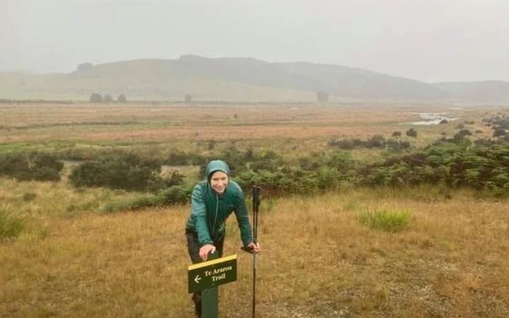 Brooke Thomas on the Te Araroa trail.