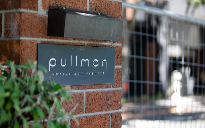 Pullman Hotel in Auckland. Managed isolation facility.