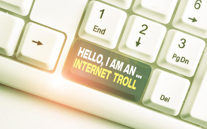 Handwriting text Hello I Am An Internet Troll. Conceptual photo Social media troubles discussions arguments