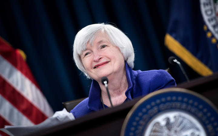 Federal Reserve Board Chair Janet Yellen speaks during a briefing at the US Federal Reserve December 13, 2017 in Washington, DC.