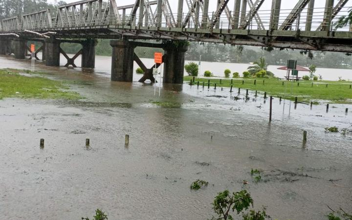 Rewa River burst its banks during Cyclone Ana