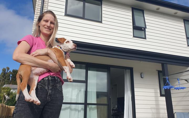 Gabrielle Krieger and her husband George moved from Auckland to New Plymouth, where they've purchased a three bedroom home for $390,000