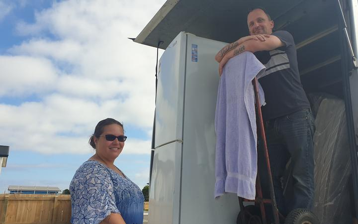 Ronel and Jayden Langley move into their new KiwiBuild home in Marfell, New Plymouth