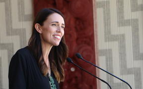 Prime Minister Jacinda Ardern speaks at Te Whare Rūnanga on 4 February, 2021.