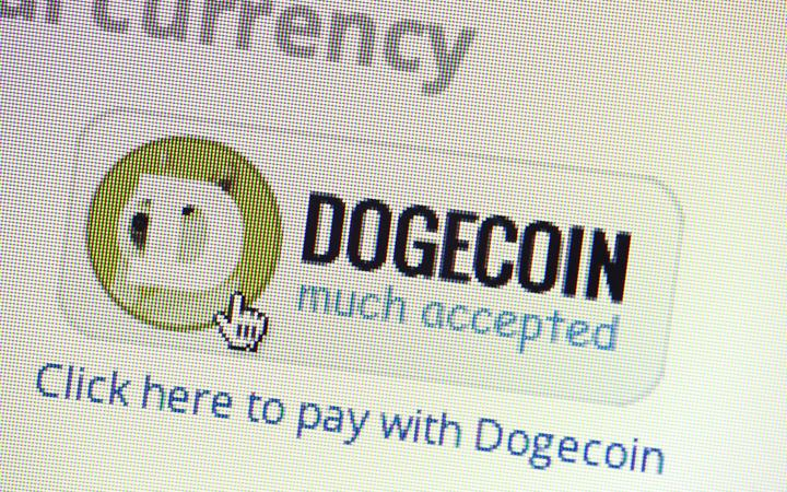 Dogecoin, virtual money.