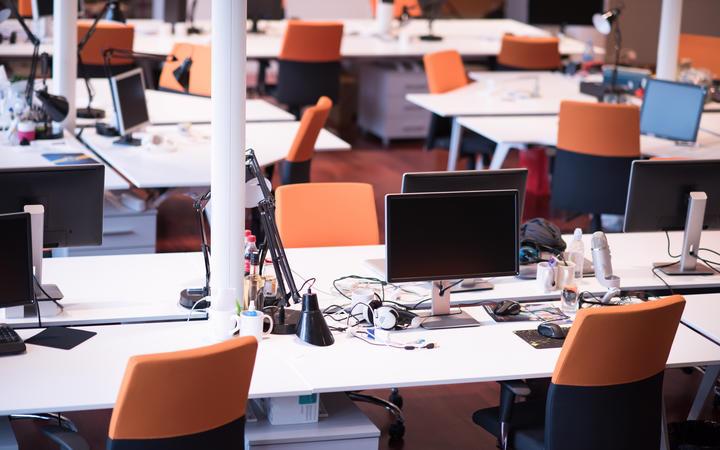 Open plan office.