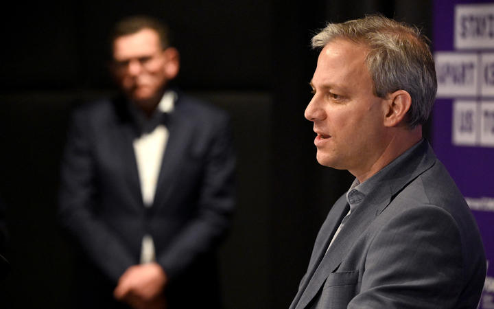 Victoria's Chief Health Officer Brett Sutton (R) speaks as state premier Daniel Andrews (L) listens during a press conference in Melbourne on July 22, 2020.