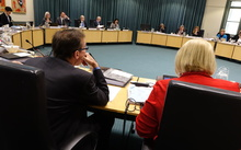 Councillors at today's meeting.