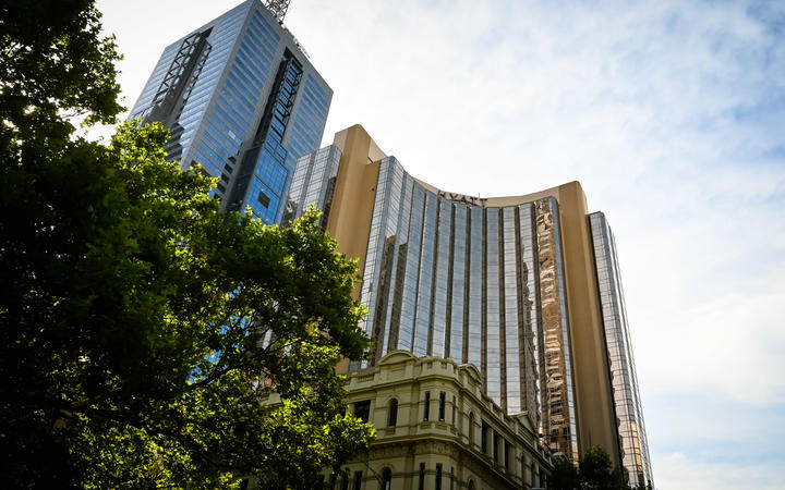The Grand Hyatt hotel in Melbourne is one of the city's hotels being used for quarantine.