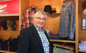 David Anderson of Anderson Outfitters in his store in downtown Queenstown that is closing after 28 years.