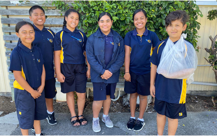 A group of 'Toko Hauora' leaders from Māngere College